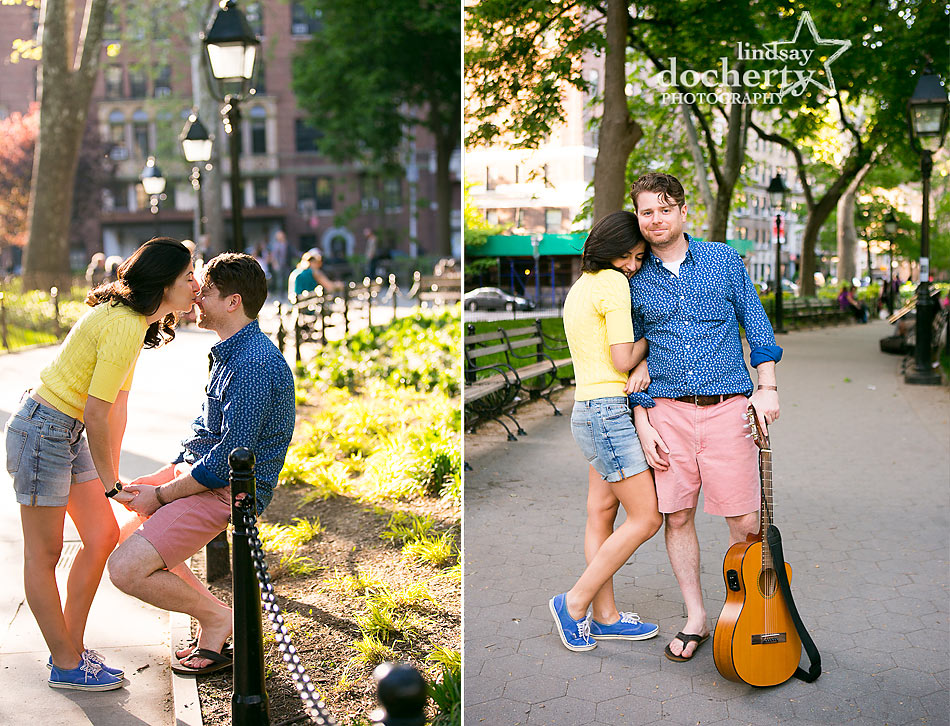 Washington Square Park engagement session in Manhattan