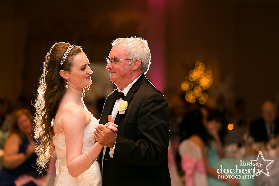 father daughter dance at Delaware reception