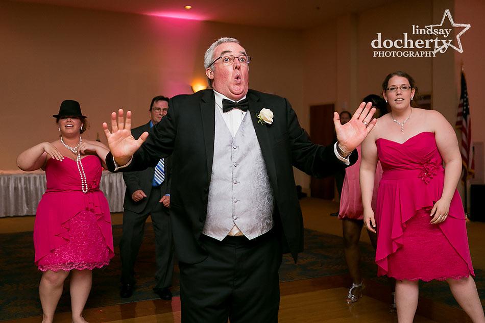 fun Delaware wedding reception