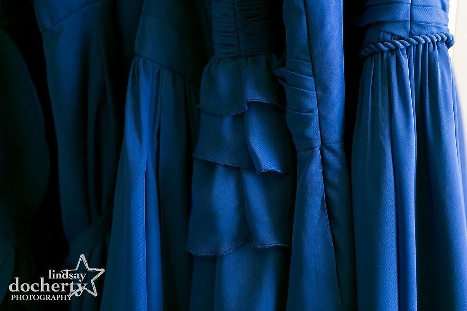 navy blue chiffon bridesmaids dresses