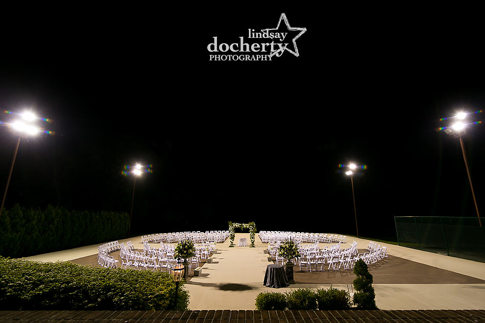 Night Jewish ceremony in the round at ACE Conference Center in Lafayette Hill