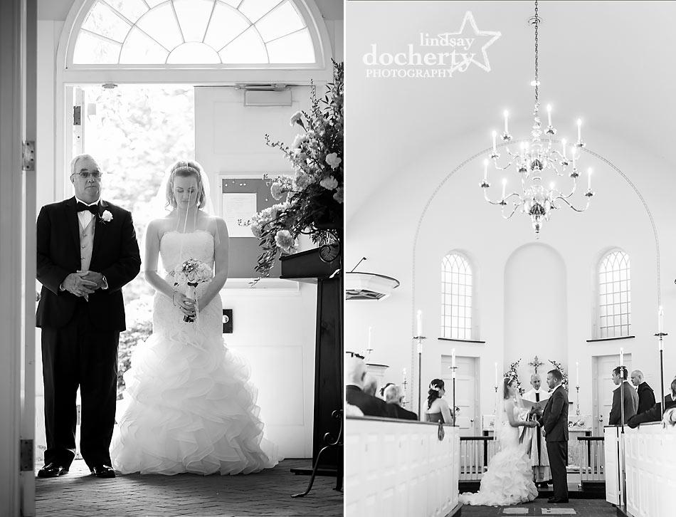 Wedding ceremony at Immanuel Episcopal Church in Newark Delaware