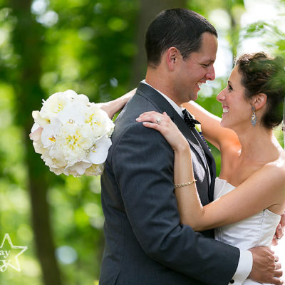 wedding day bride and groom at Stokesay Castle in Reading, PA
