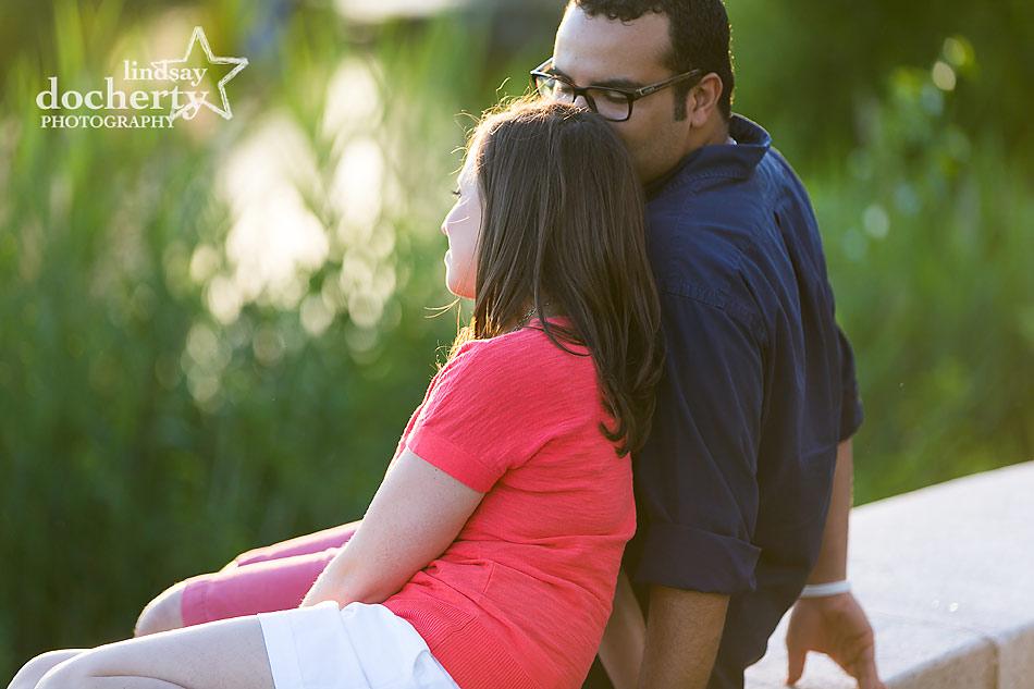 Engagement session in South Philadelphia FDR Park