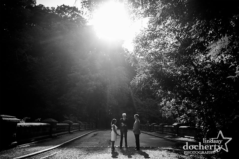 Romantic wedding elopement in Philadelphia's Wissahickon Park