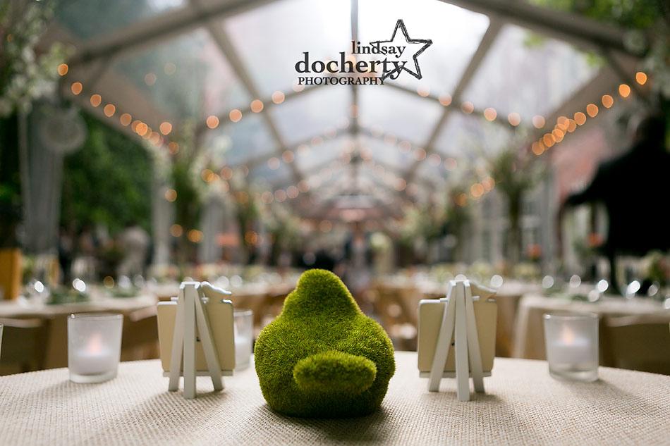 pink and green garden Philadelphia wedding reception at Morris House Hotel