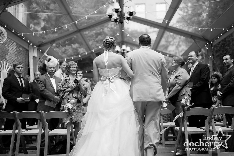 Philadelphia wedding ceremony at Morris House Hotel