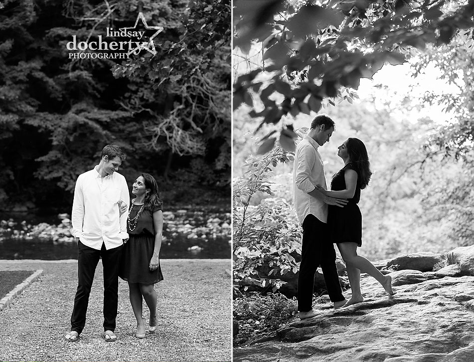 engagement session in Philadelphia's Wissahickon Park