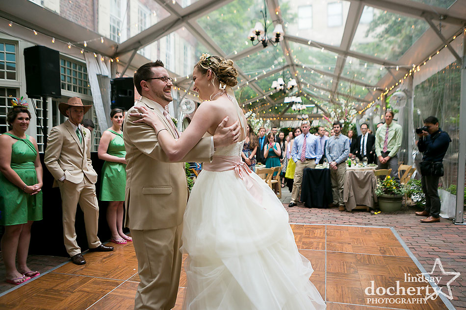 first dance at Philadelphia wedding reception at Morris House Hotel