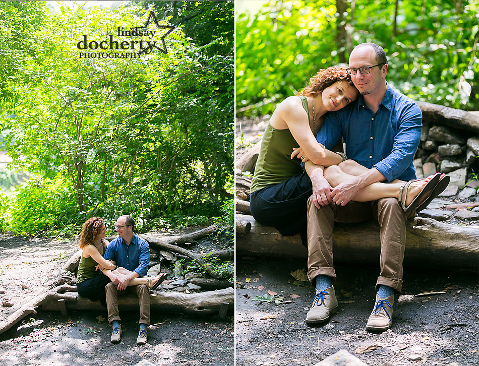 engagement photography session in  Philadelphia Park by the Schuylkill