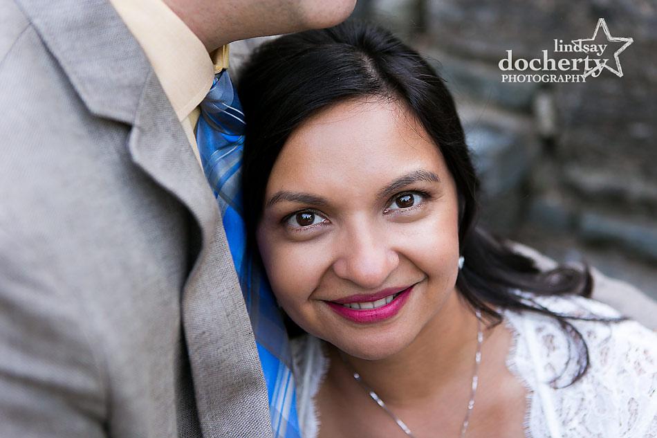 Romantic wedding elopement in Philadelphia's Wissahickon Park