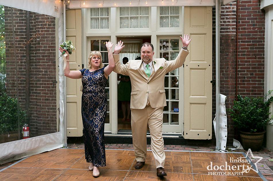 Philadelphia wedding reception at Morris House Hotel