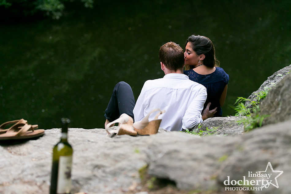 Engagement session by Philadelphia's Wissahickon Creek