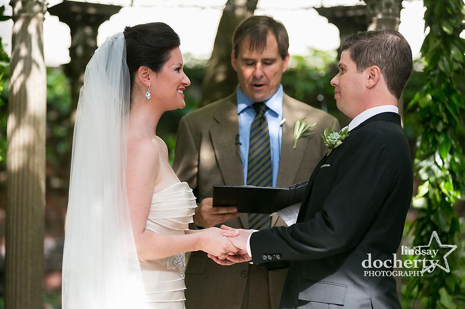 wedding ceremony at Morris House Hotel in Philadelphia