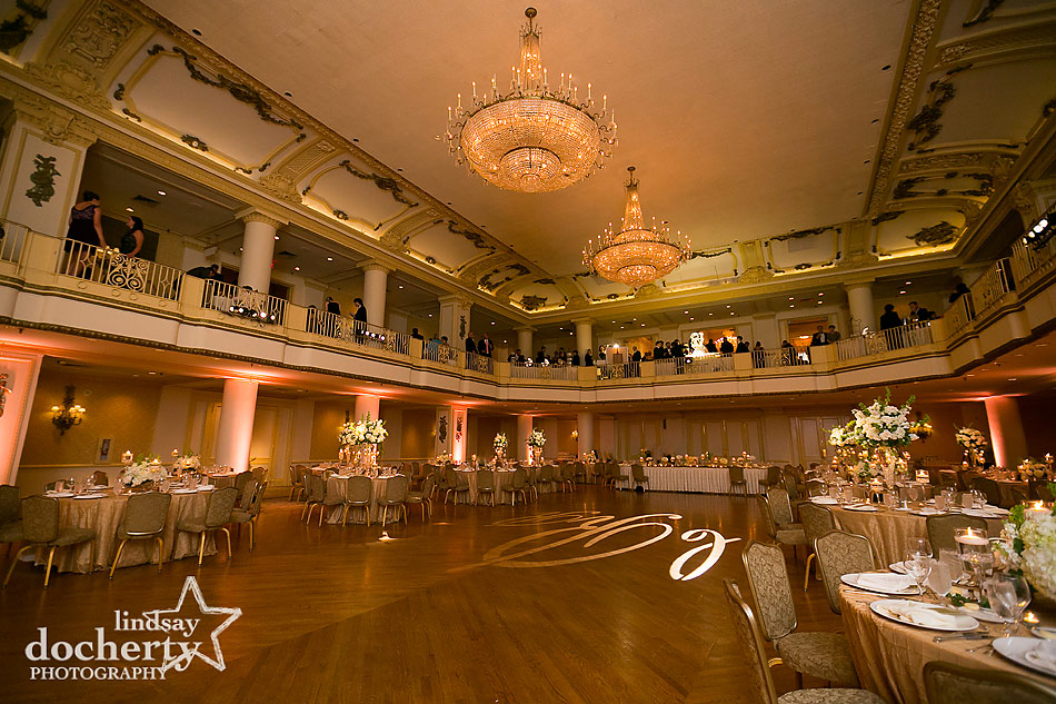 Philadelphia wedding reception at the Hyatt at the Bellevue grand ballroom