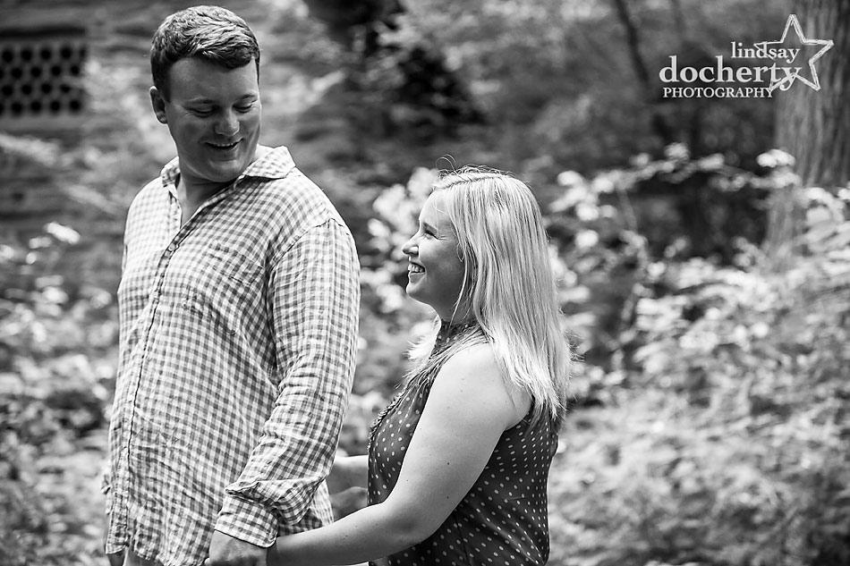 Chestnut Hill, Philadelphia engagement session in Wissahickon Park