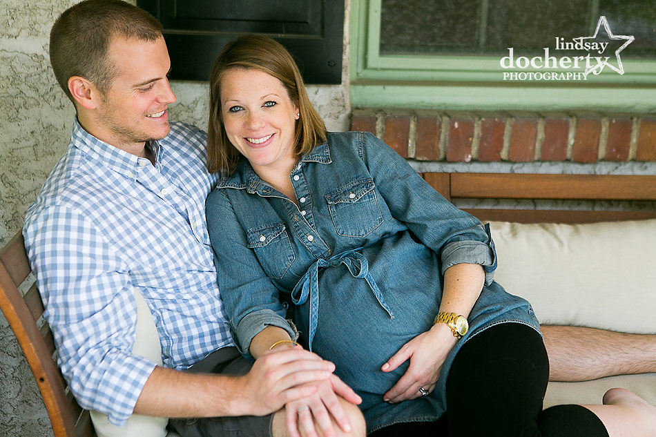 Chestnut Hill Maternity session with mom and dad