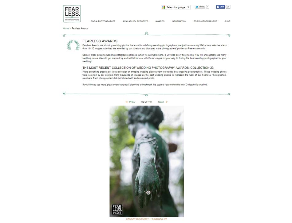 Fearless Photographer Award Lindsay Docherty Photography from the Philadelphia Fairmount Park Horticulture Center