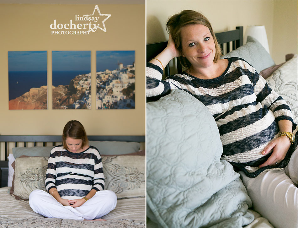 Philadelphia maternity session with mom at home