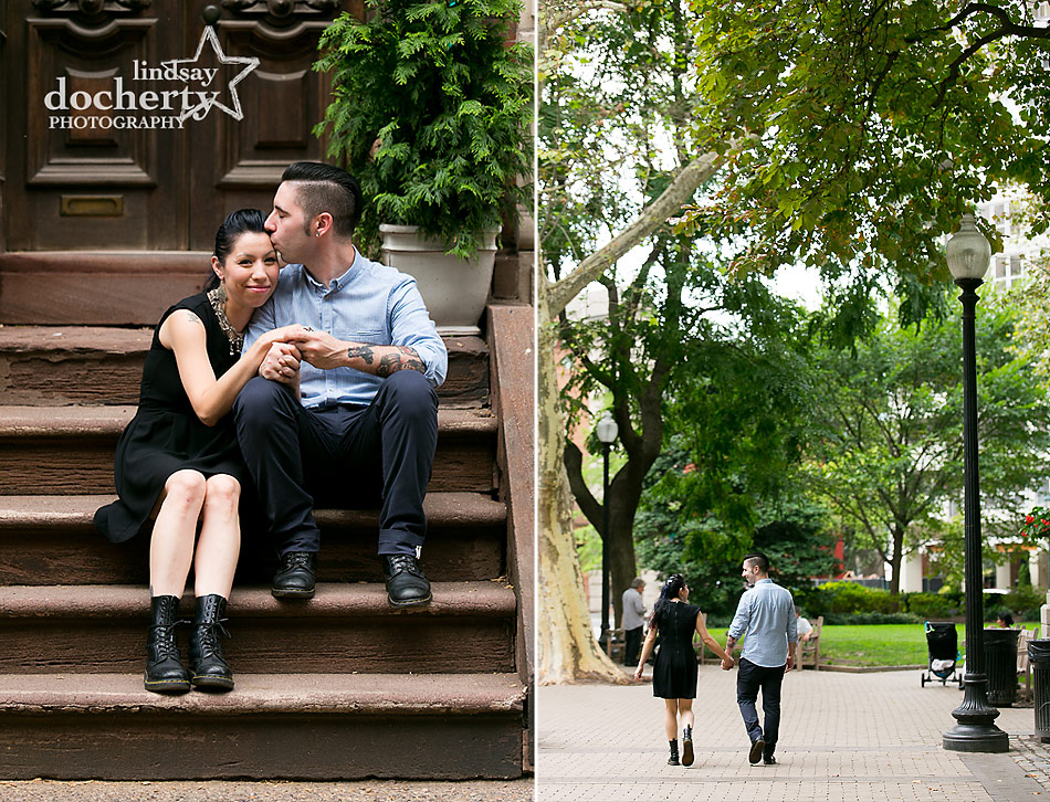 alternative-couple-engagement-session-in-Philadelphia-in-Rittenhouse-Area