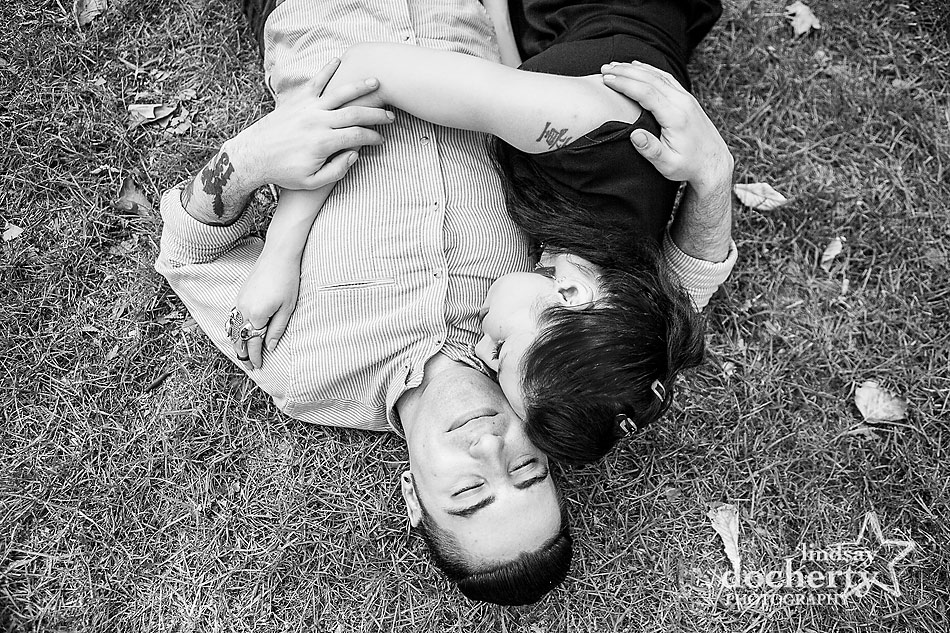 alternative-couple-engagement-session-in-Philadelphia-napping-together