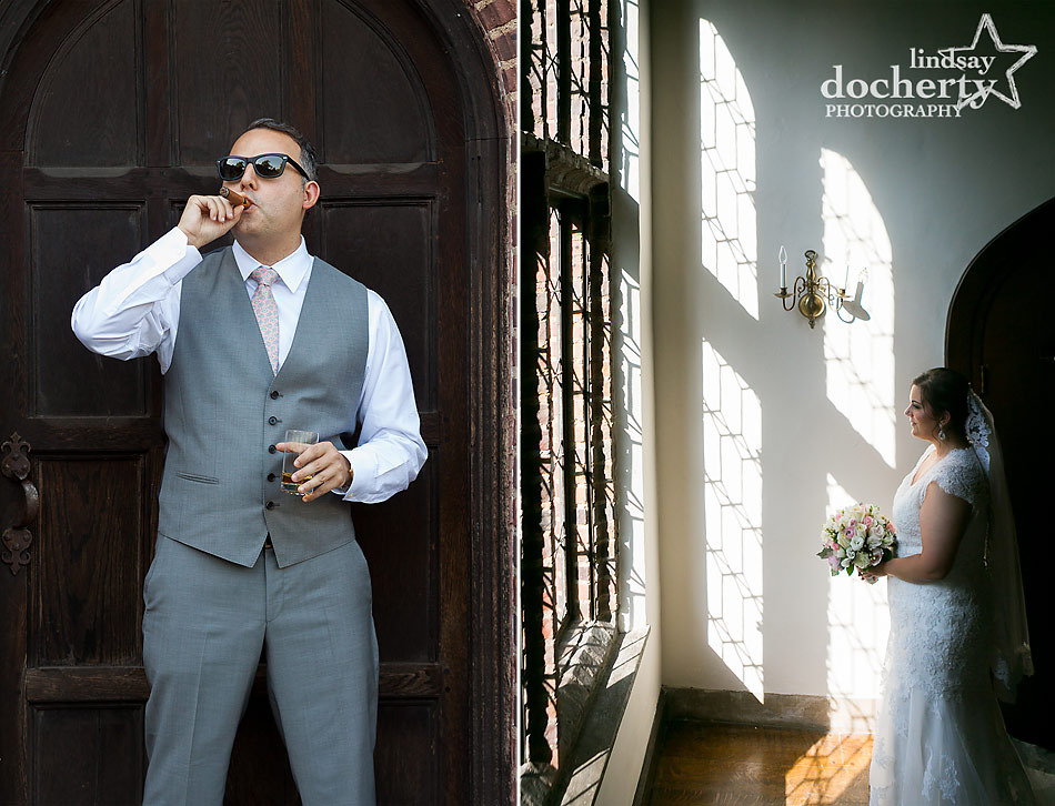 bride and groom pictures at Aldie Mansion wedding in Doylestown