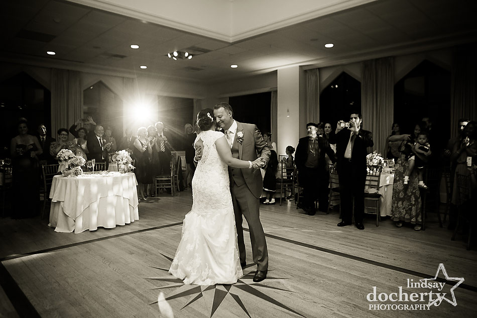 bride and groom first dance at Aldie Mansion in Doylestown