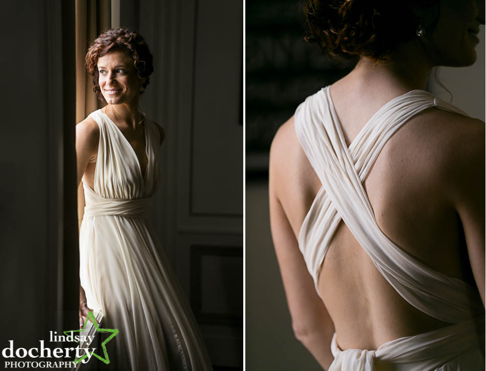 beautiful bride portrait in Philadelphia Hotel Palomar