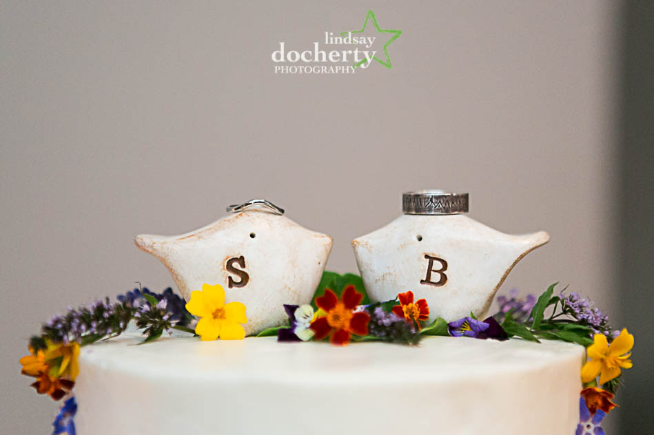 bird cake toppers with rings