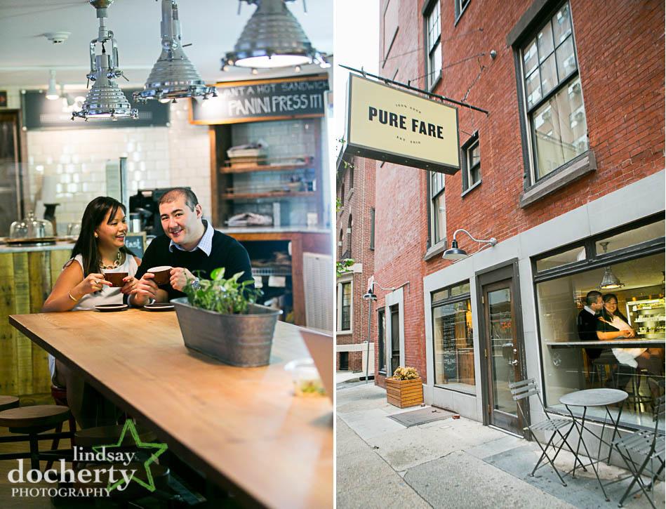 engagement session in Pure Fare Philadelphia
