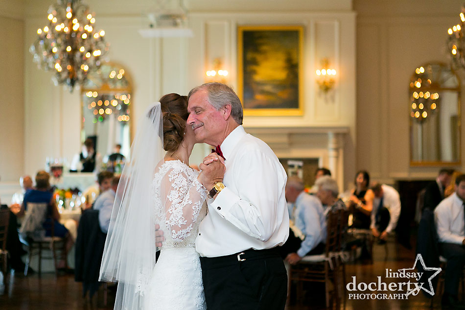 father daughter dance at DC Army Navy Country Club wedding reception