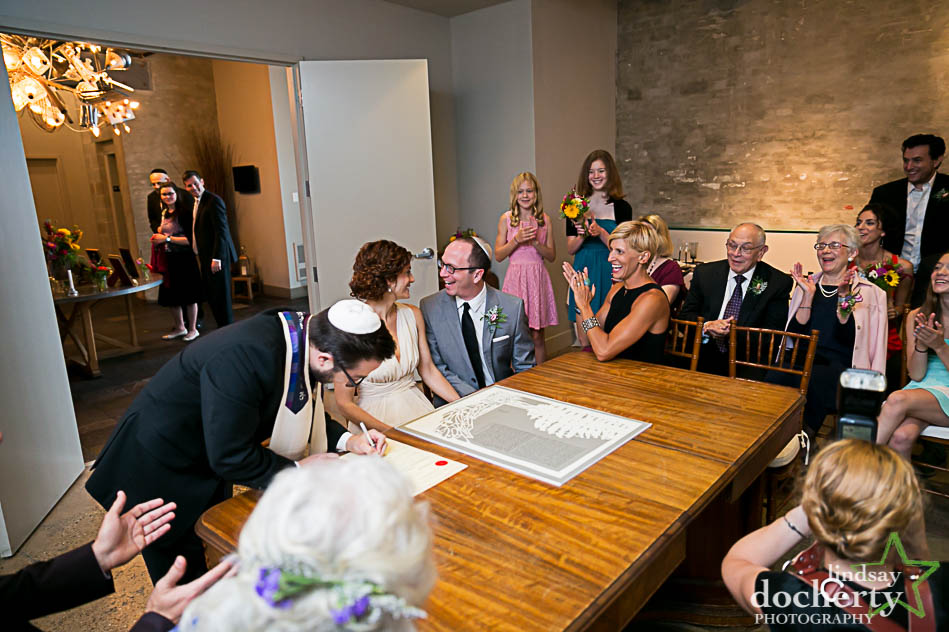 ketubah signing at Philadelphia Front and Palmer