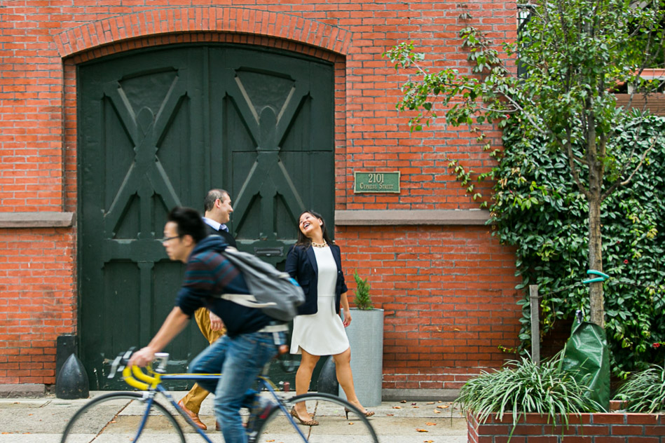 laughing engagement session in Philadelphia