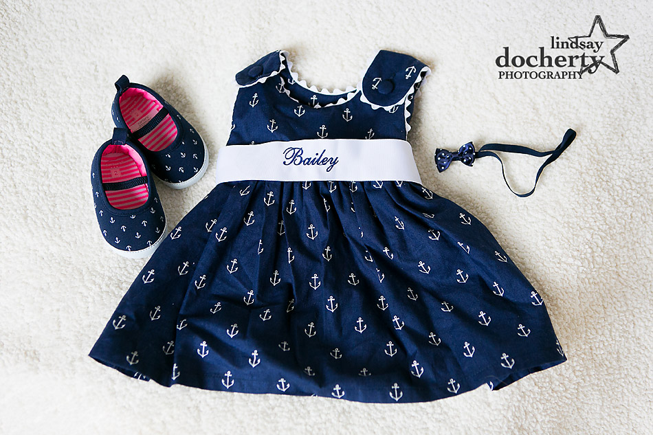 little baby girl navy dress and shoes with anchors