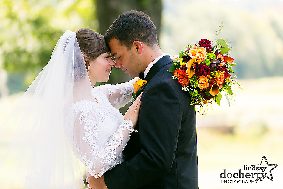 bride and groom at summer wedding at Army Navy Country Club in DC