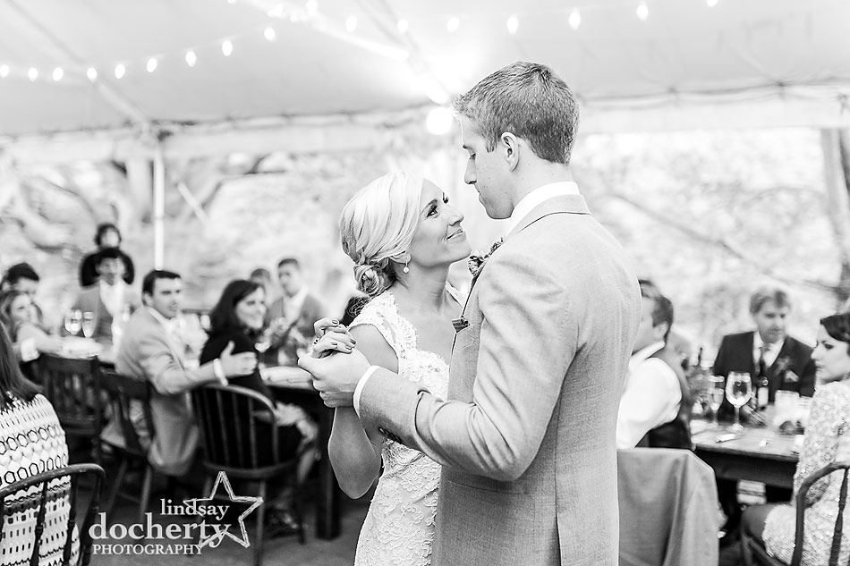 bride-and-groom-first-dance-at-fall-wedding-at-Tyler-Arboretum