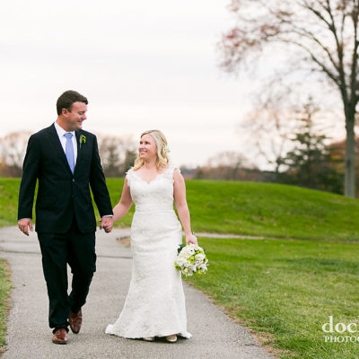 bride and groom on wedding day at Sunnybrook Golf Club