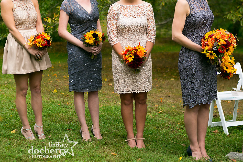 champagne-and-gray-short-bridesmaid-dresses-at-fall-wedding-at-Tyler-Arboretum