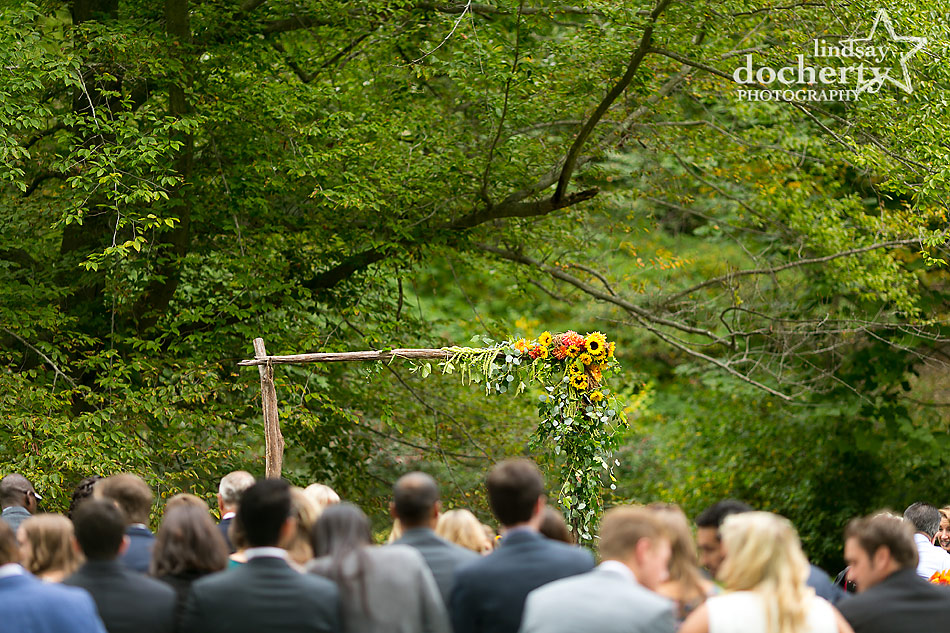 fall-wedding-arch-at-Tyler-Arboretum-ceremony