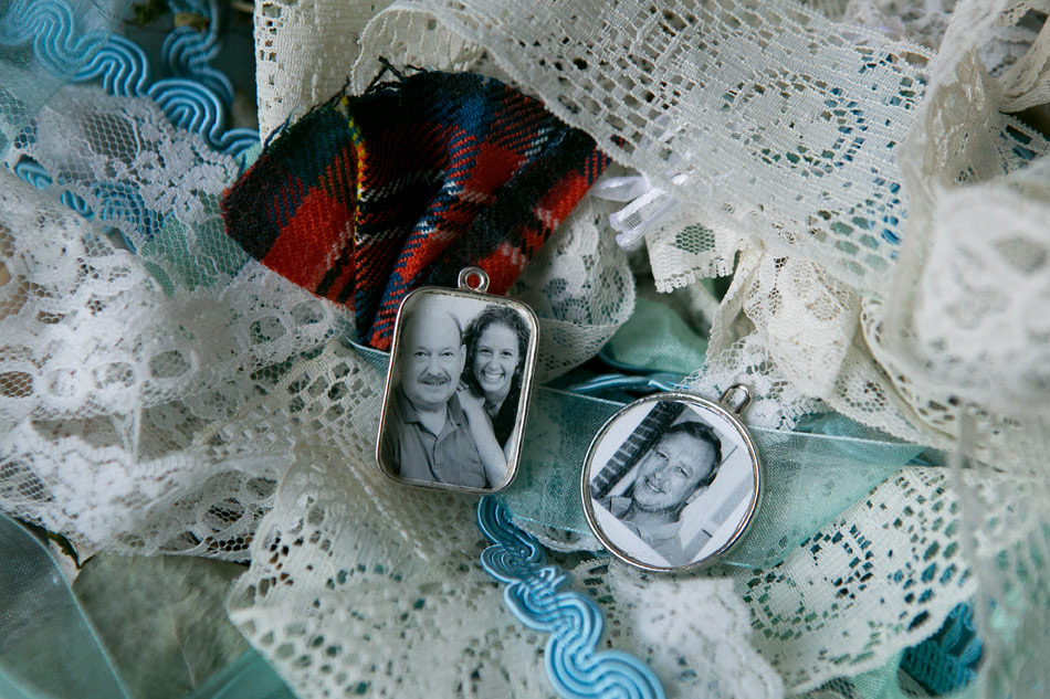 lace-ribbons-and-photo-memento-charms-for-brides-bouquet