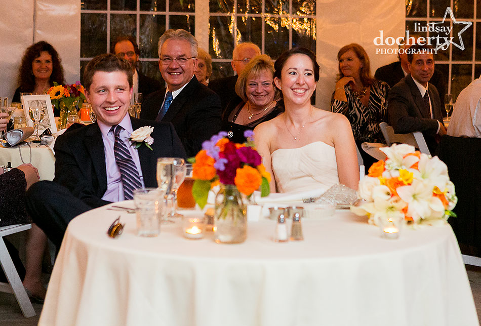 bride-and-groom-during-toasts-at-fall-Valley-Green-Inn-wedding-in-Philadelphia