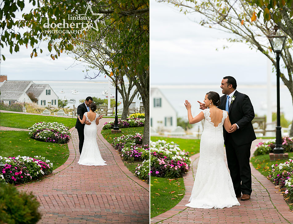 bride-and-groom-first-look-at-Chatham-Bars-Inn-wedding-on-Cape-Cod