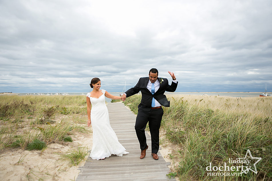 bride-and-groom-goofing-off-before-ceremony-at-Chatham-Bars-Inn-wedding-on-Cape-Cod