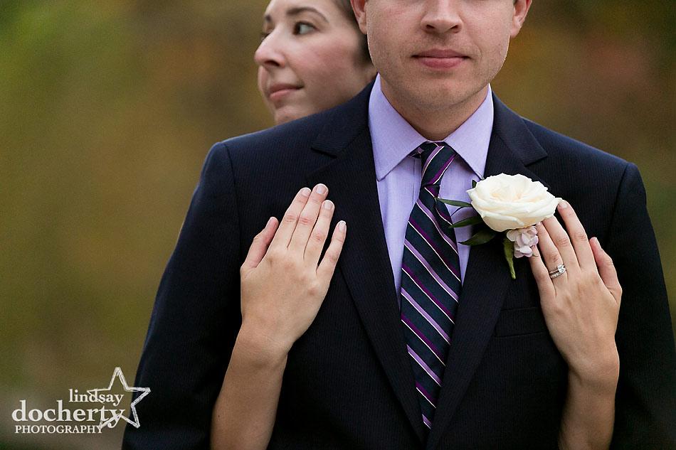 bride-and-groom-portrait-at-fall-Valley-Green-Inn-wedding-in-Philadelphia