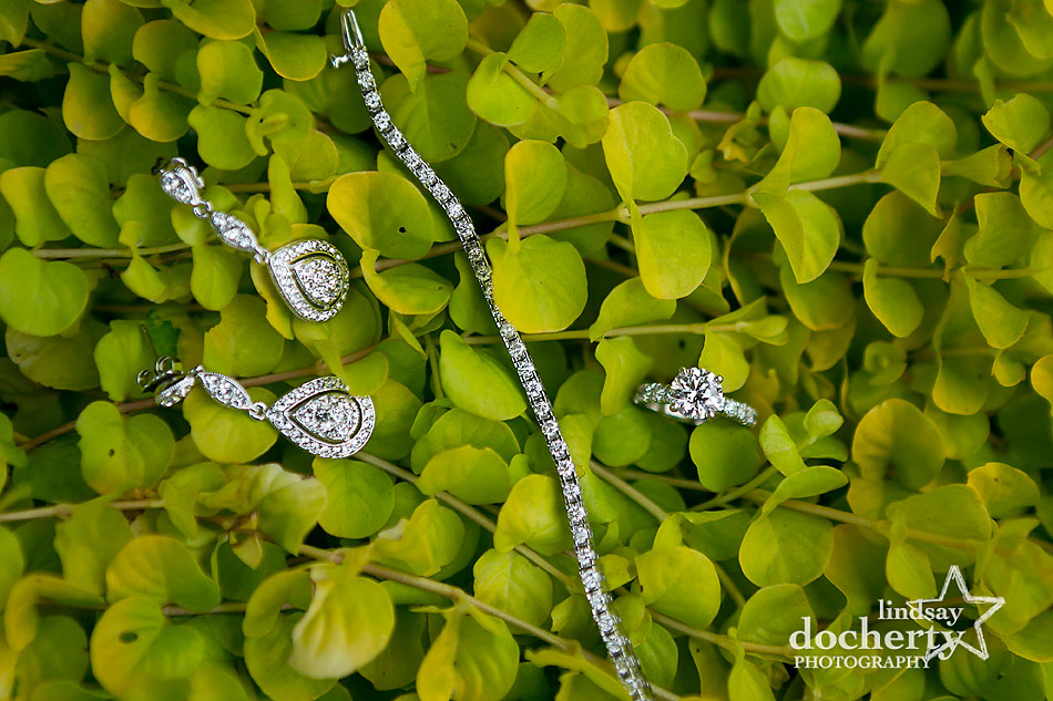 tennis-bracelet-earrings-and-engagement-ring-on-wedding-day