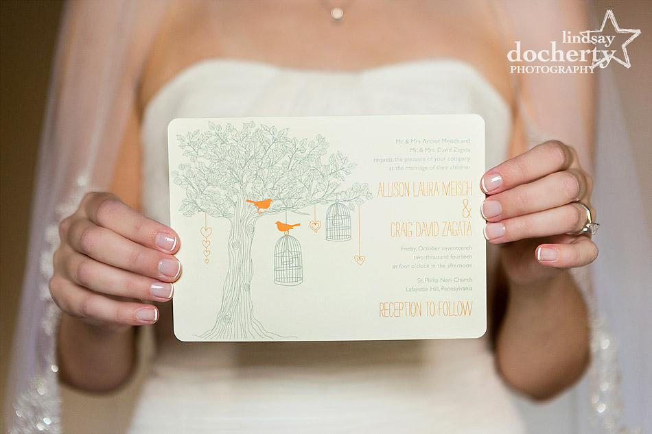 woodsy-wedding-invitation-with-bride