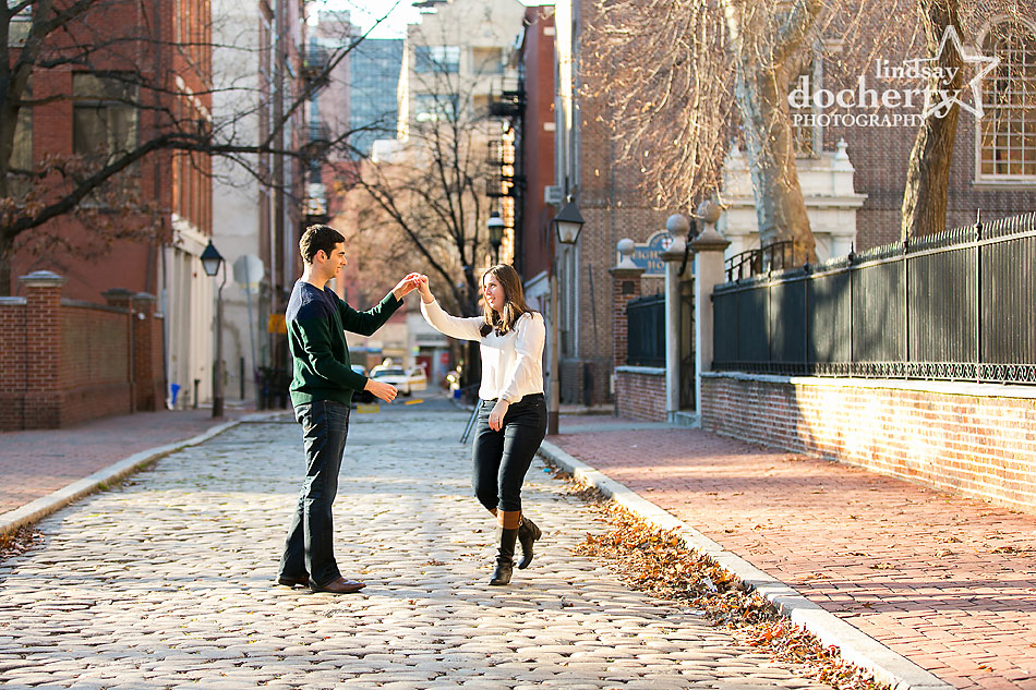 Old-City-cobblestone-and-dancing-engagement-session