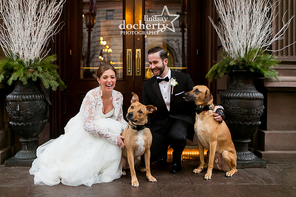 Union-League-bride-and-groom-with-dogs-in-winter