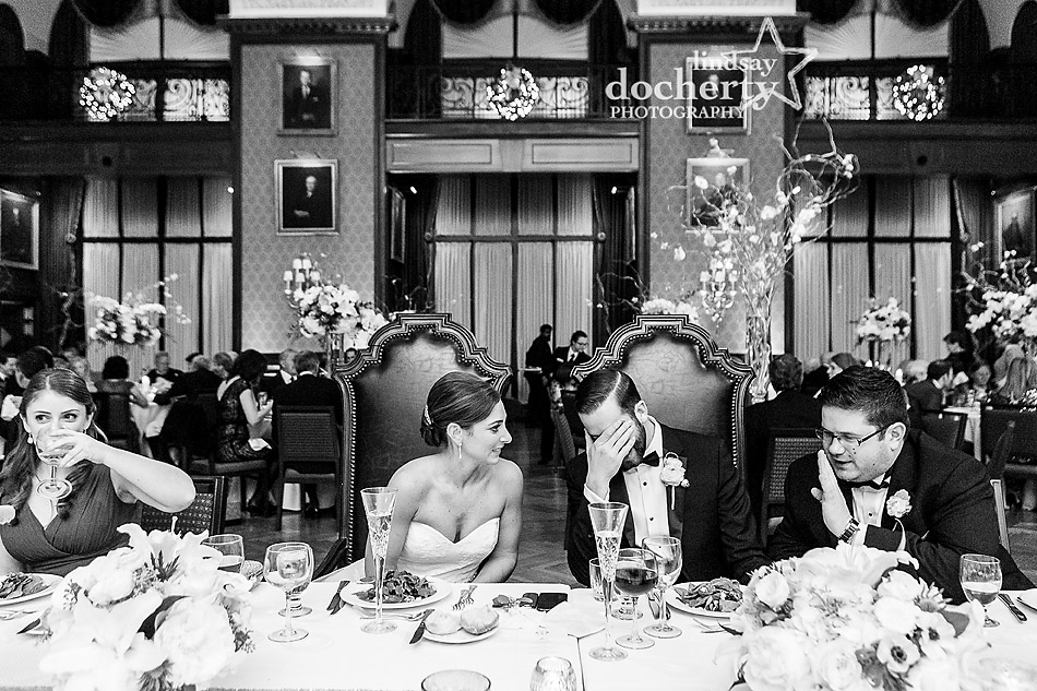 bride-and-groom-at-dinner-table-at-Union-League-wedding-in-Philadelphia
