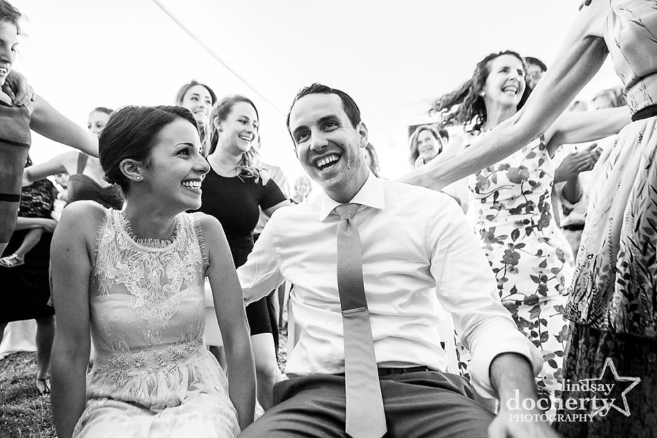 bride-and-groom-circled-at-hora-at-wedding-reception
